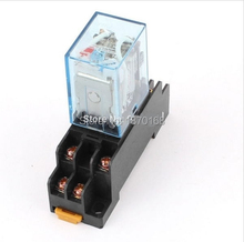 цена на MY2N-J AC 220V Coil General Purpose Relay DPDT 8 Pin 5A 240VAC/28VDC w Socket Base by Amico
