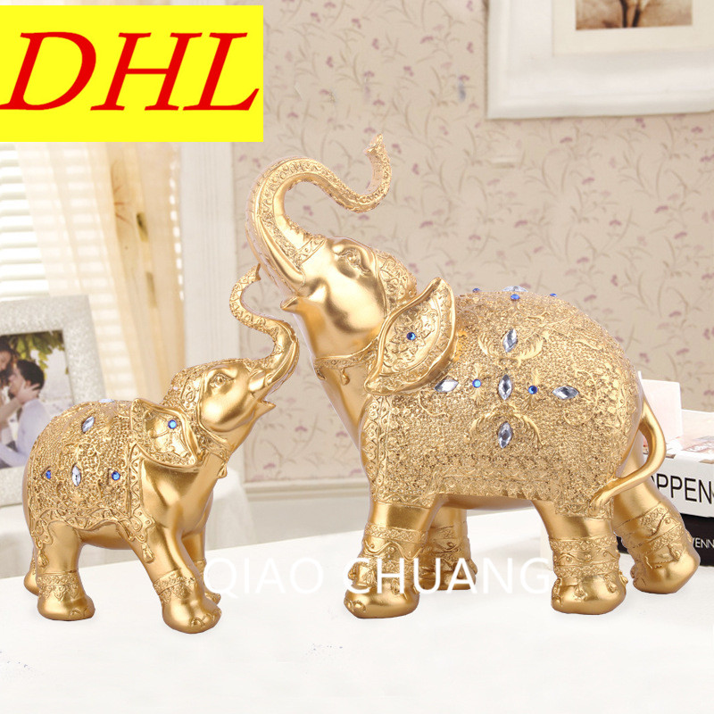 Фото Mother Child Elephant Exquisite Soft Resin Ornaments Decorations Wedding Gifts Lucky Christmas Gift Home Accessories Crafts S373