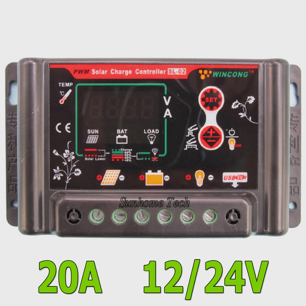 Auto Intelligent Li Ion Lithium Lifepo4 Battery Solar Charge Led Pwm Controller View Regulator Voltage Adjustable With 5v Usb In Controllers From Home