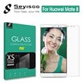 100% original seyisoo templado 2.5d hd 9 h anti-huella digital protector de pantalla de vidrio templado para el huawei mate 8 ascend mate8 película