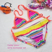 Swimming Pool Baby Swimsuit Children'S Bikini Girls One-Piece Swimsuit Baby Kids New Cute Print Summer Girls  Beach Bathing Suit цена