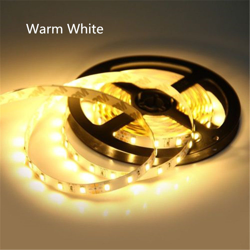 LED Strip Light 5630 DC12V 5M 300led Flexible 5730 Bar Light High Brightness Non-waterproof Indoor/outdoor Home Decoration