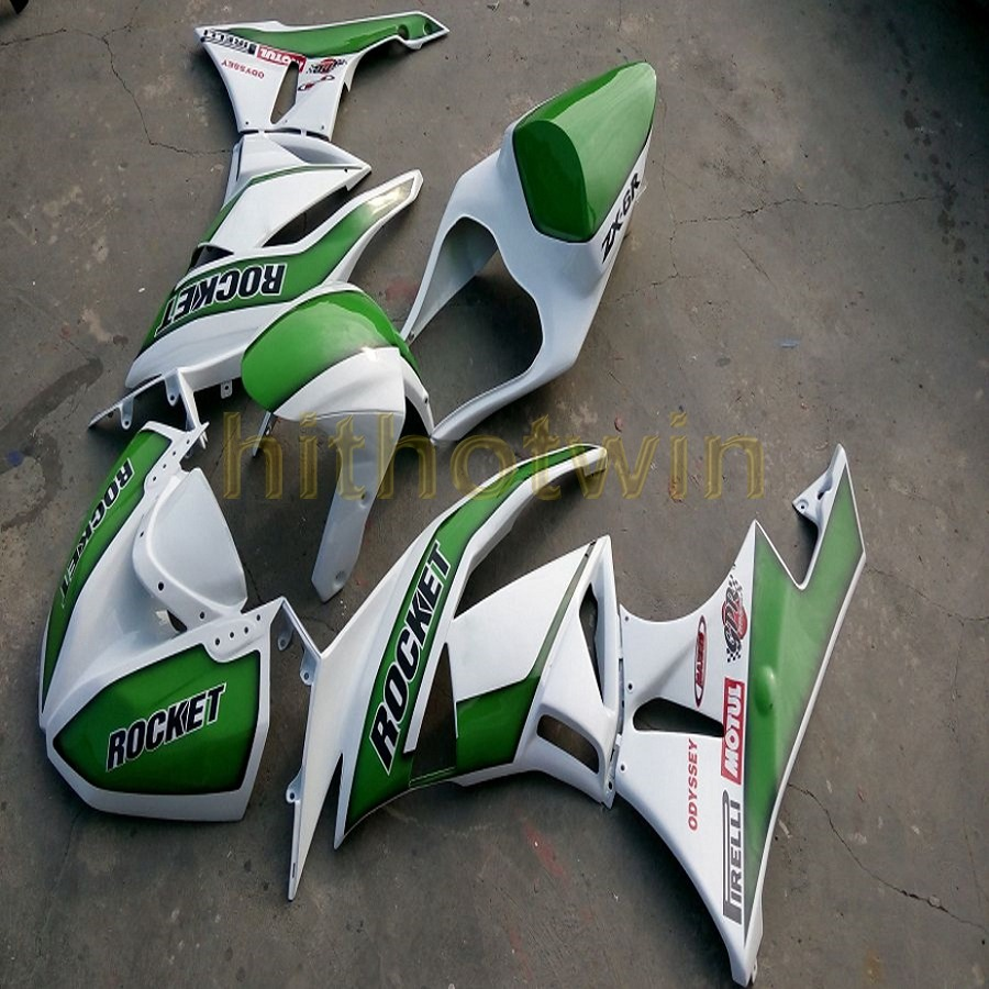 Bodywork Fairing Kit For Kawasaki Ninja Zx6r 09 10 11 12 Wine Red 2004 636 Engine Diagram Free Bolts Custom Injection Mold Green White Motorcycle Article Zx 6r