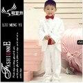 Бесплатная доставка высокая quailty белое платье для мальчика можно подгонять пиджаки костюмы