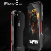 Luphie Bicolor Aluminum Metal Phone Bumper Case For Iphone8 8plus Phone Frame Case For Iphone 8