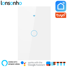 Lonsonho Wifi Smart Switch US 1 2 3 4 Gang Wall Touch Panel Light Tuya Life App works with Alexa Google Home