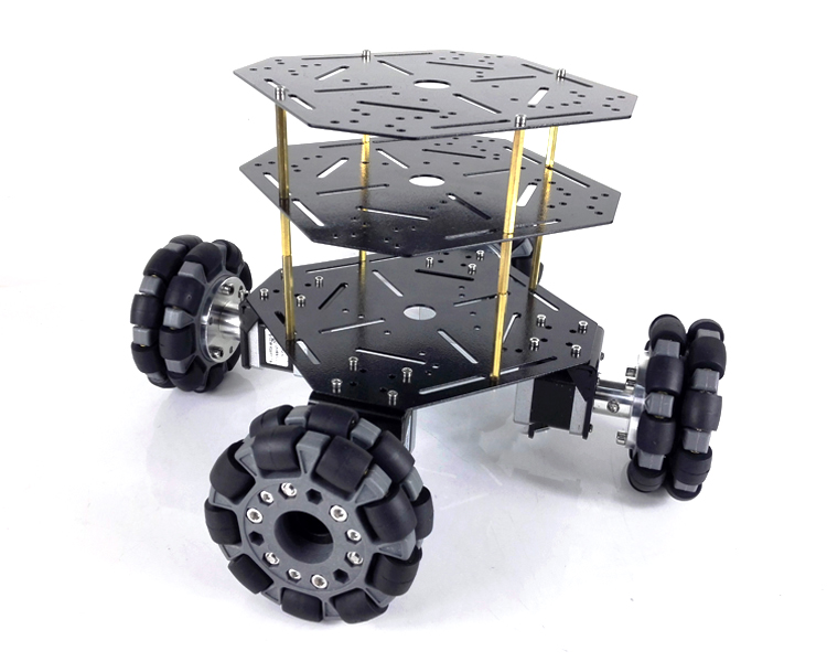 New Arrival MT200S 4WD Omni Wheel Robot Car Stainless Steel Frame with 100mm wheels powrful motors