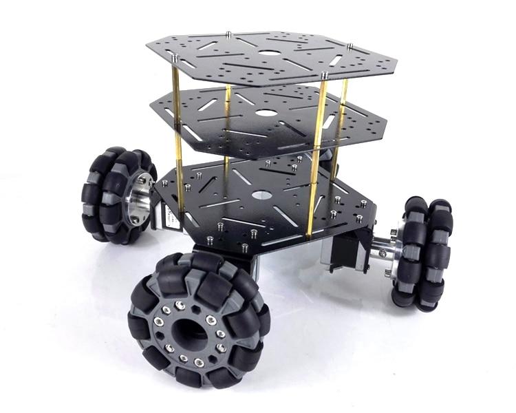 Nuovo Arrivo MT200S 4WD Ruota Omni Robot Auto. Telaio In Acciaio Inox con 100 millimetri ruote. Motori powrful. Per Il FAI DA TE Auto Giocattolo. Robot di Studio-in Componenti e accessori da Giocattoli e hobby su  Gruppo 1