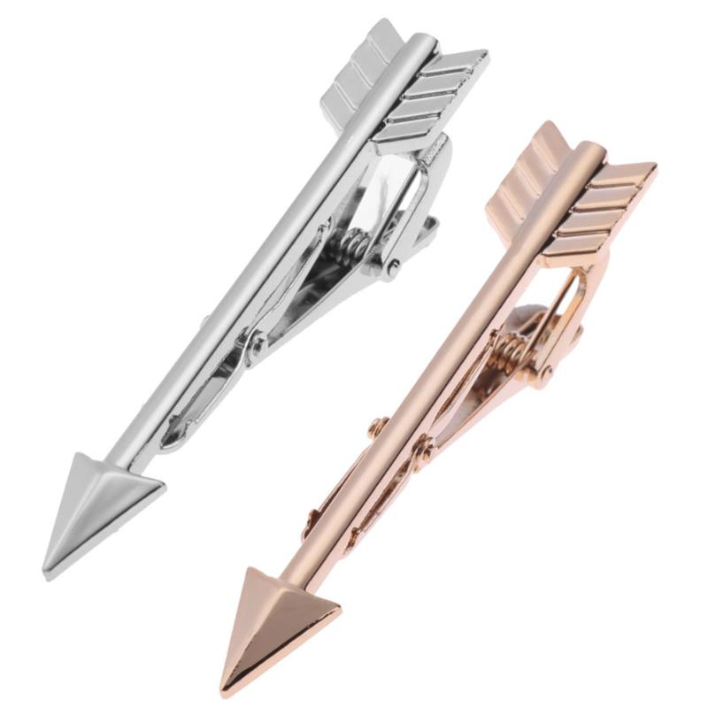 Mens Tie Clips Male Formal Business Suit Necktie Clip Clasp Metal Tie Clip Pins Fashion Men Retro Arrow-Shaped Alloy Jewelry