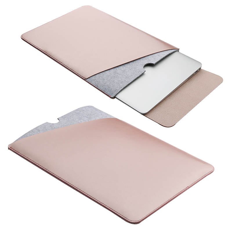 11.6 12 13.3 15.4 Inch Notebook Sleeve Case Double Layer Leather Laptop Bag Cover For Retina Macbook Air Pro 11 12 13 15 SY018
