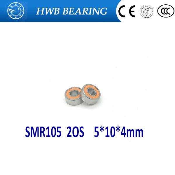 Livraison Gratuite 1 pc SMR105 2OS CB ABEC7 5X10X4mm Roulements en Céramique Hybride En Acier Inoxydable/ roulements de Moulinet de pêche SMR105C 2OS