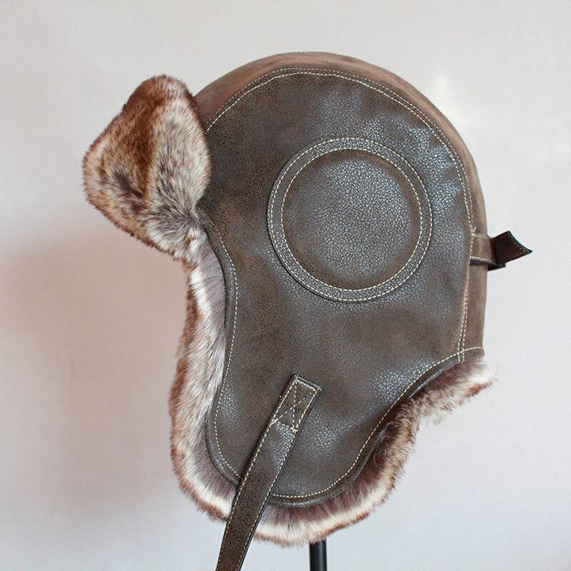 hiver-chapeau-ushanka-hommes-femmes-pilote-aviateur-bomber-trappeur-chapeau-fausse-fourrure-cuir-chapeau-de-neige-avec-rabats-d'oreille