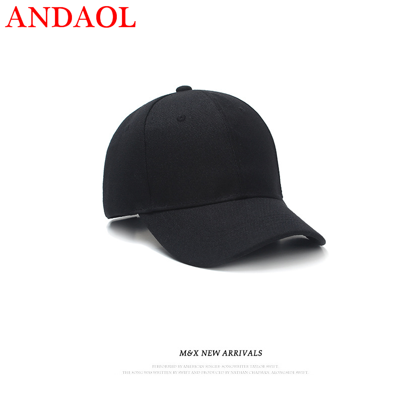ANDAOL Adult Unisex Casual Cap Summer Solid Adjustable Men Women Baseball Hight quality Outdoor Marvel Multicolor Sun Hat