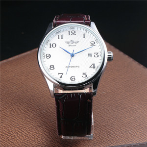 Image 3 - WINNER Famous Brand Men Business Automatic Watches Auto Date Man Fashion Mechanical Wristwatches Leather/Stainless Steel Band