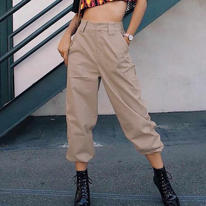 UIDEAZONE Camo Capri Vrouwen Losse Overalls Wijde Pijpen Harembroek Broek Vrouwen Joggers Vrouwen Chain Hip Hop Broek Joggingbroek Arm