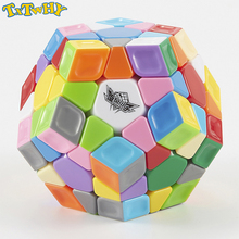 TXTWHY Cyclone Boy Dodecahedron 3x3 Magic Cube Stickerless Colorful Professional Smooth Twist Speed Cube Puzzle Antistress Toy