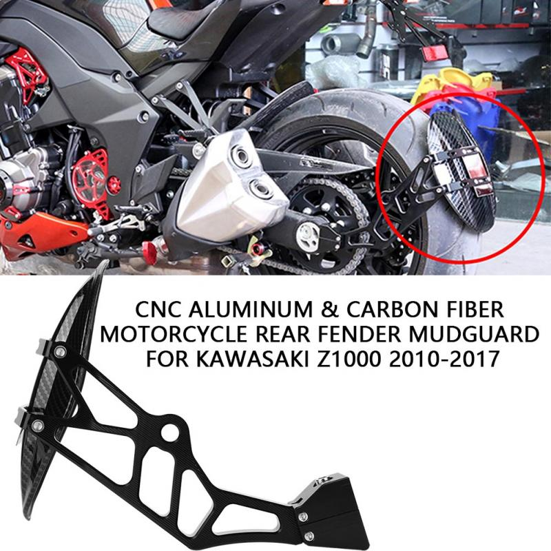 CNC Aluminum Carbon Fiber Motorcycle Rear Fender Mudguard for Kawasaki Z1000 2010 2011 2012 2013 2014 2015 2016 2017 motorcycle accessories carbon fiber rear fender mudguards fender hugger for bmw s1000rr 2009 2017 2010 2011 2012 2013 2014 2015