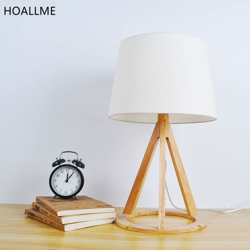 arte moderno lmparas de techo luces de mesa de madera de roble puede ajustar lmpara de