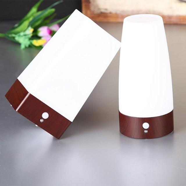 Led Table Lamp Desk Light Human Body Induction Small Cordless Motion Sensor Night Lights Bedroom Decoration Lighting