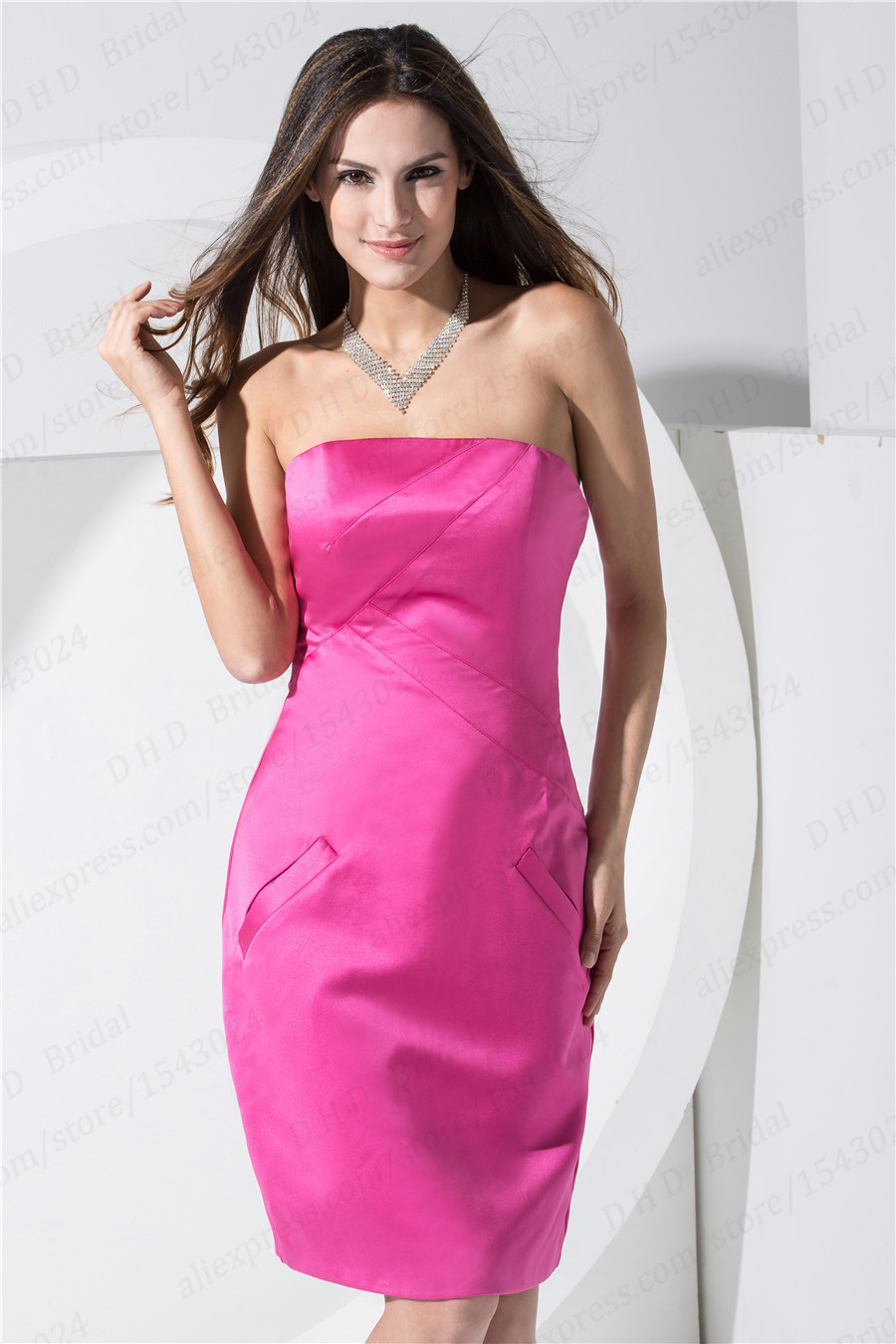 Excepcional Vestido De La Dama De Honor Por Debajo De 100 Viñeta ...