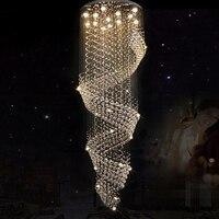 Новая Современная хрустальная люстра для спиральной внутренней лестницы роскошный коридор светодиодный хрустальная люстра