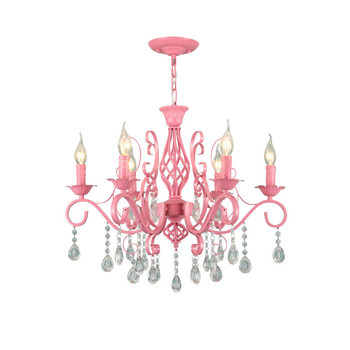 Kristal Prenses Mum Kolye Işık Pembe Kız Çocuk Düğün Odası Süspansiyon Misafir Yatak Odası Bahçe Ev Kolye Işık G973