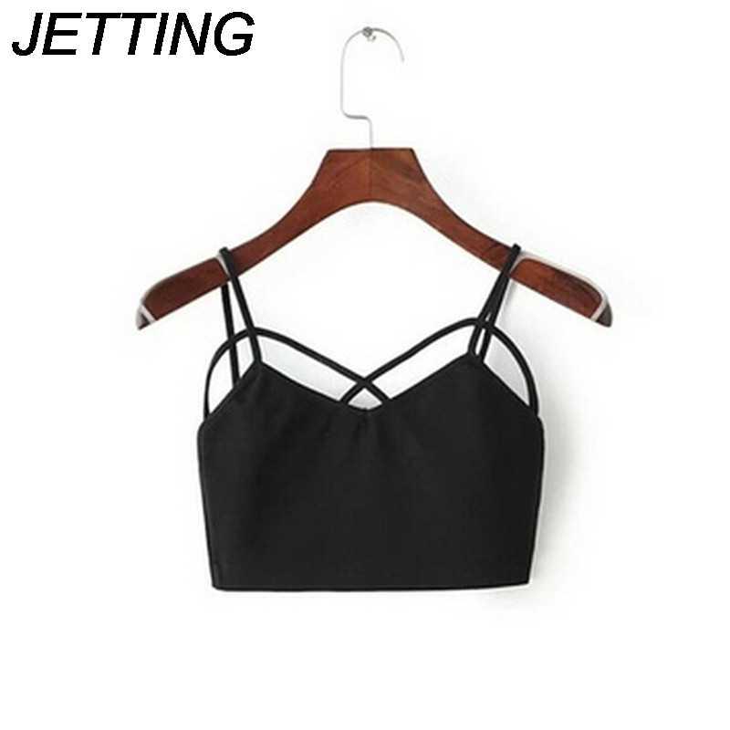 Zwart Wit Mode Vrouwen Dames Strappy Crop Top Bralet Bustier Vest Beha Kruis Top