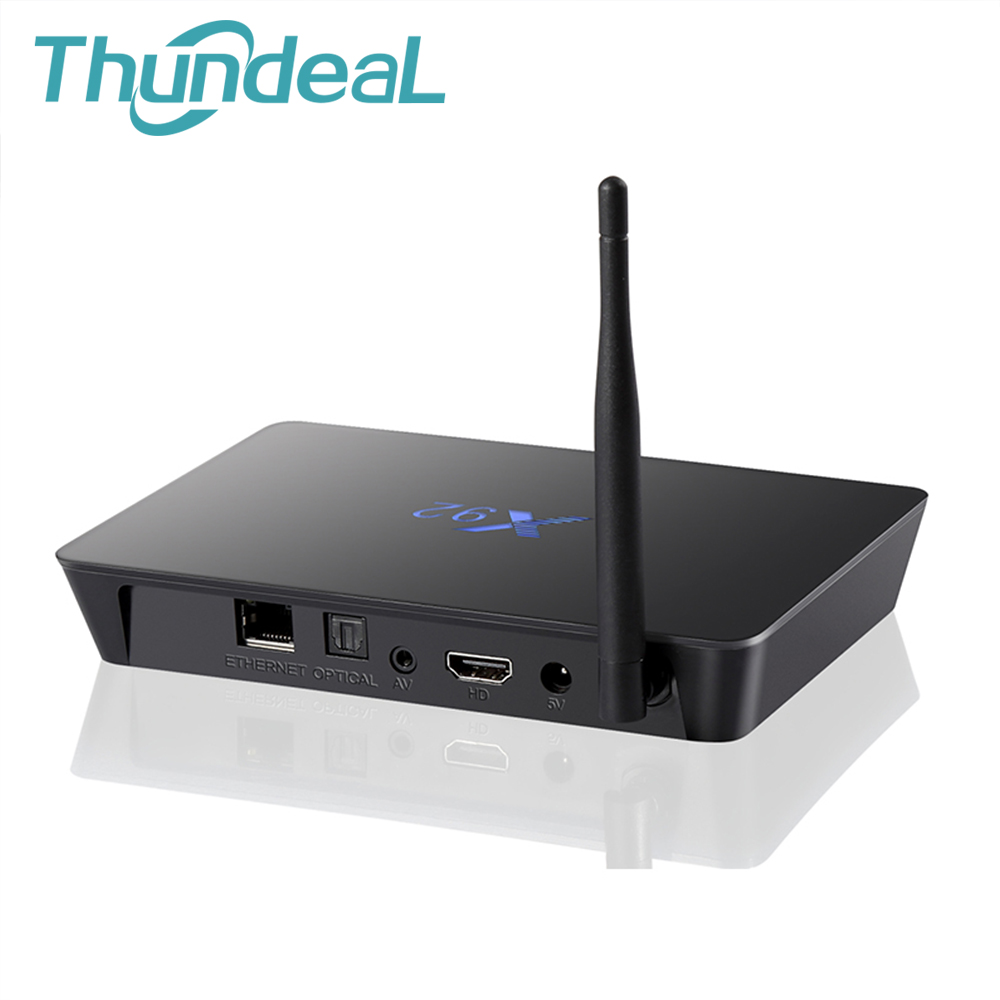 6.0 Android TV Box X92 Amlogic S912 2G/16G 3G/32G Octa Core 4K H.265 XBMC OTA 2.4G/5GHz WiFi IPTV Media Player Smart TV BOX PC