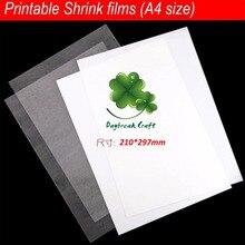 20 шт./лот) для струйных принтеров пленка сжимается Пластик лист для печати термоусадочные пленки A4 Размер