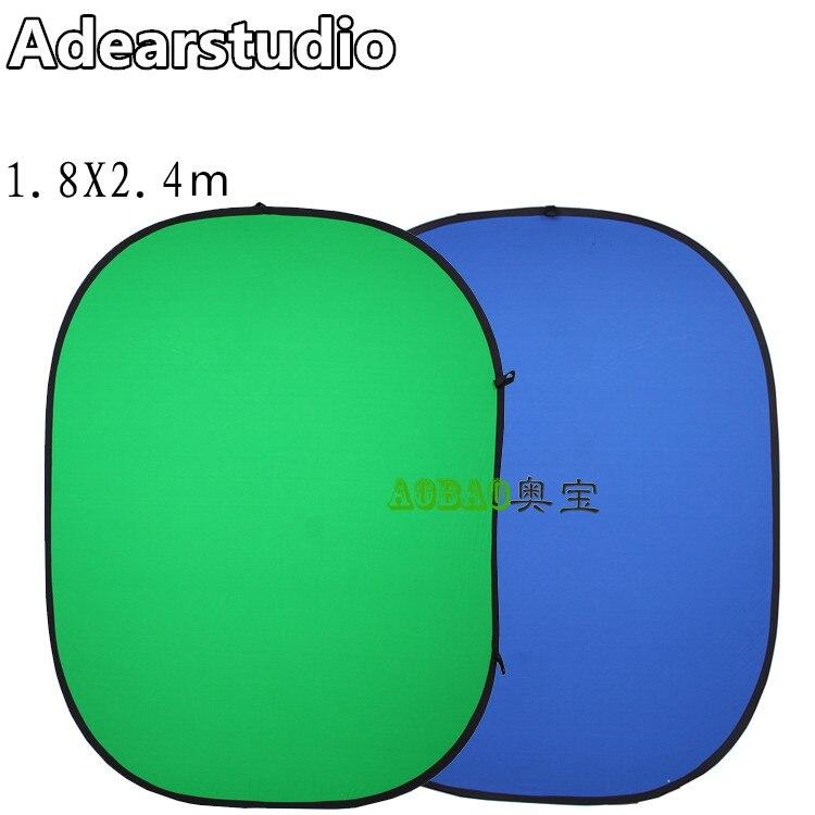 180x240 cm Fond Conseil Vert Bleu double-face photographie écran fond fond torsion flex 1.8*2.4 m NO00DC