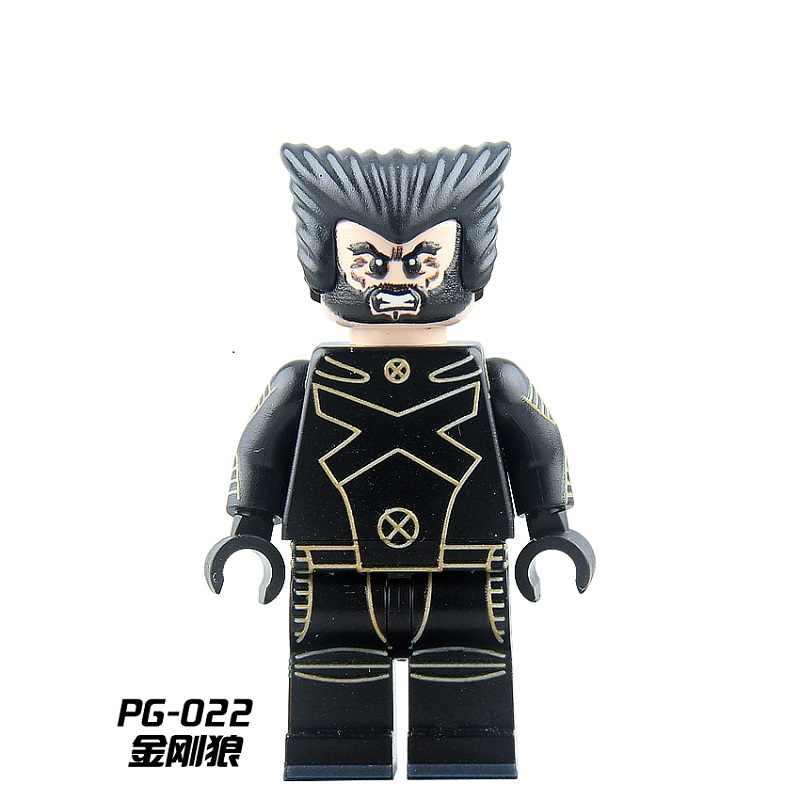 Супер Герои Росомаха быстрый Серебряный Rogue colorssus кабель Белый королева X-men Скорпион строительные блоки Дети подарок игрушки