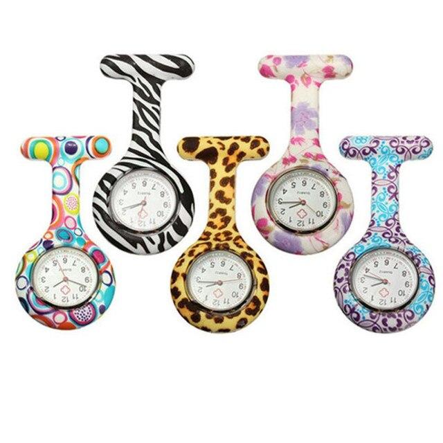 Nurse Watches Fob Quartz Pocket Watch 1 PC Fashion Silicone Pattern Nursery Cloc