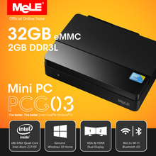 Intel Mini PC MeLE F10 AIR Mouse + Fanless PCG03 Genuine Windows 10 Intel Z3735F Quad Core 2G DDR3 32G eMMC HDMI VGA LAN WiFi BT