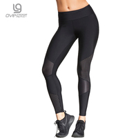Ovesport Summer Women Workout Leggings Push Up Sporting Leggings Mesh Transparent Elastic Skinny Fitness Leggings Women