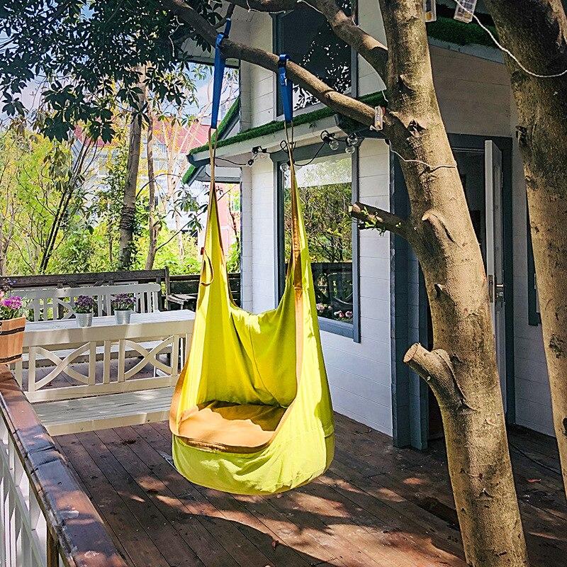 Jouet enfants en plein air sac en tissu balançoire chambre adulte hamac balançoire hamac chaise meubles cadeaux pour la journée des enfants