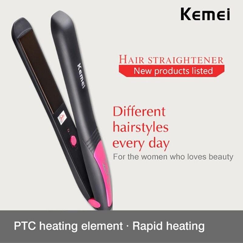 HQ KEMEI Professional Straightening Irons Styling Tools Flat Iron Tourmaline Ceramic Heating Performance Hair Straightener
