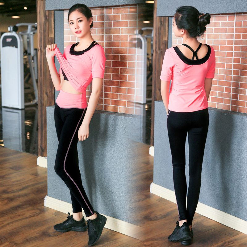 Yoga Set di Tre Pezzi di Usura Delle Donne di Sport Per Le Donne Leggings di Fitness Corsa e Jogging Donna Traspirante Esercizio Vestito di Sport Outdoor - 2