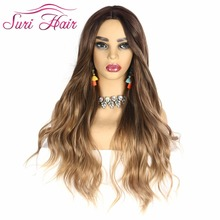 Suri hair long wavy wigs women's synthetic fiber fake hair black blonde brown blonde wigs natural 7 colors 26 inches cosplay