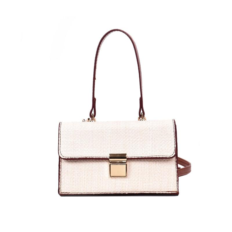 9b866a600f42 ... Women Fashion Autumn Straw Bags INS Popular Female Knitting Handbag  Lady Weave Shoulder Bag Mini Travel ...
