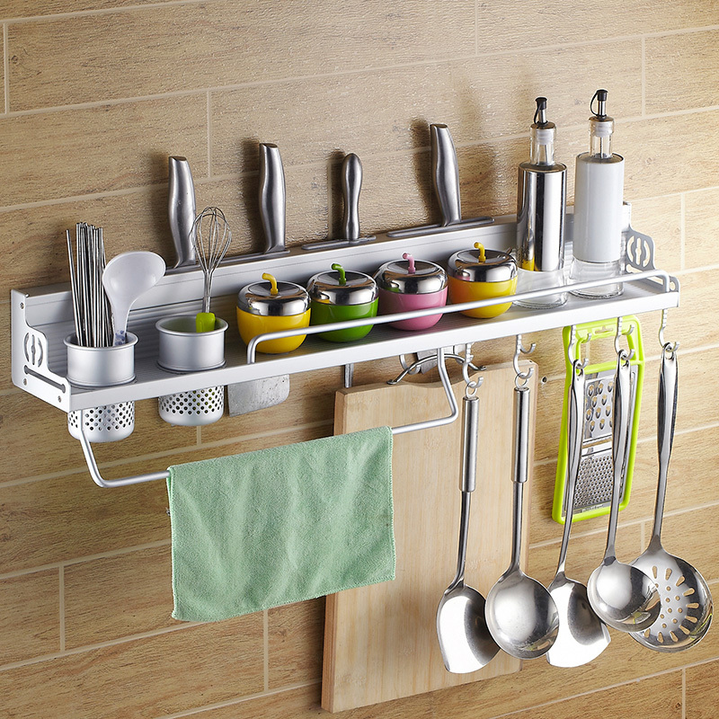 kitchen tool holder lowes delta faucets space aluminum utensils hanging rack shelving turret spice hardware supplies on aliexpress com alibaba group