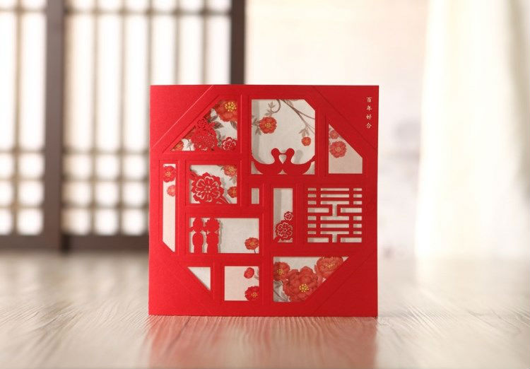 Wedding Invitations In Bulk: Wholesale 50 Sets Chinese Style Wedding Invitations Cards