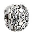 WAYA High Quality Silver Charms Clip Clasp Clear Crystal European Charm Fit Bracelet Bangle DIY Original Jewelry Making