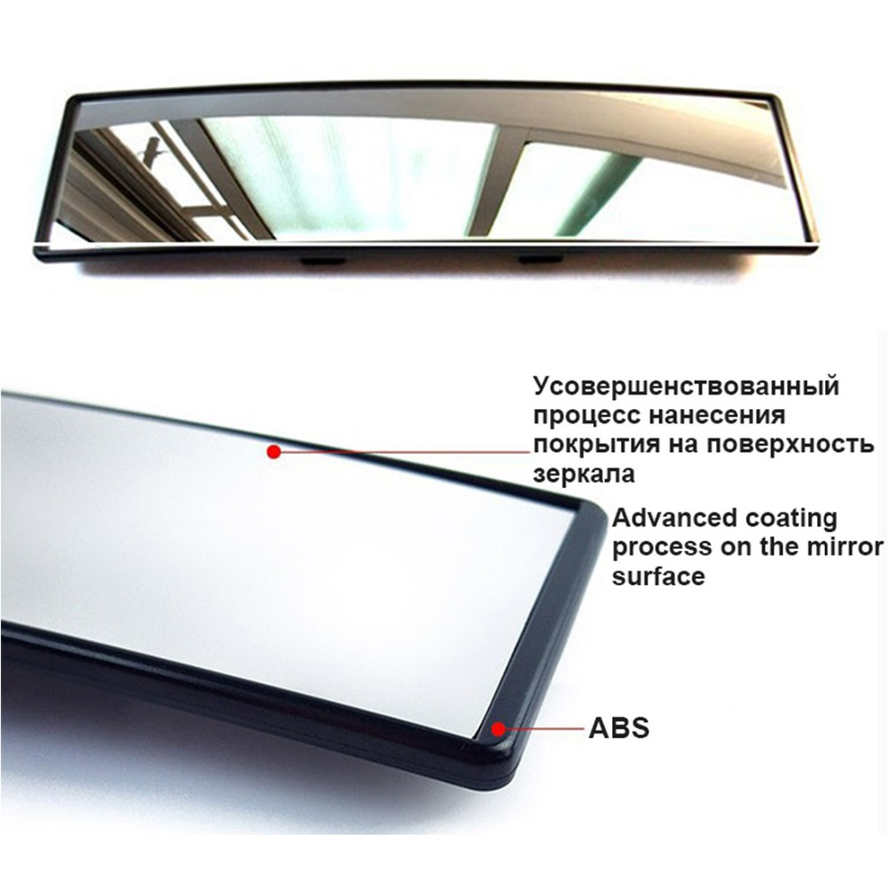 Car Interior 300mm Deluxe Anti glare Rear View Mirror Clip on Wide Angle panoramic mirror Rearview Mirrors Car Styling in Interior Mirrors from Automobiles Motorcycles