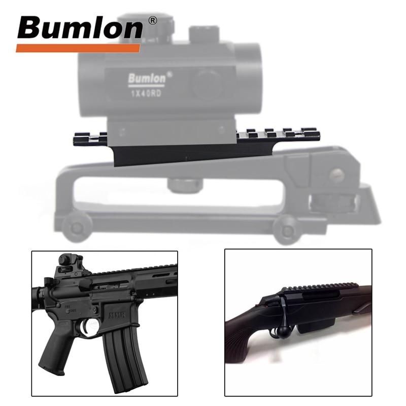 Airsoft Tactical Weaver Rail M4 AR15 M16 Mount Scope 20mm Rail For Carry Handles Gun Rifle QD Quick Release Tool HT2-0015DG