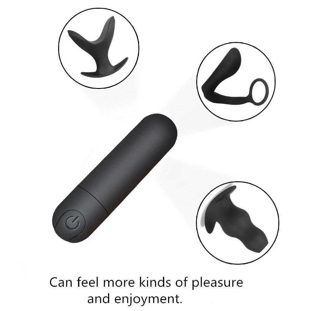 _01Vibrating Mini Bullet Waterproof Vibrator G-spot Massager Clitoris Stimulator Sex Toy for Woman Adult Sex Products