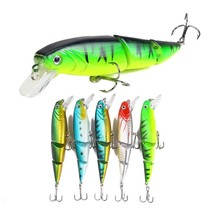 купить 5Pcs/lot 11cm 15.3g Fishing Bait Lures Minnow Jointed Sections Hard Artificial Bait Fishing Wobblers Fish Baits For Sea River дешево