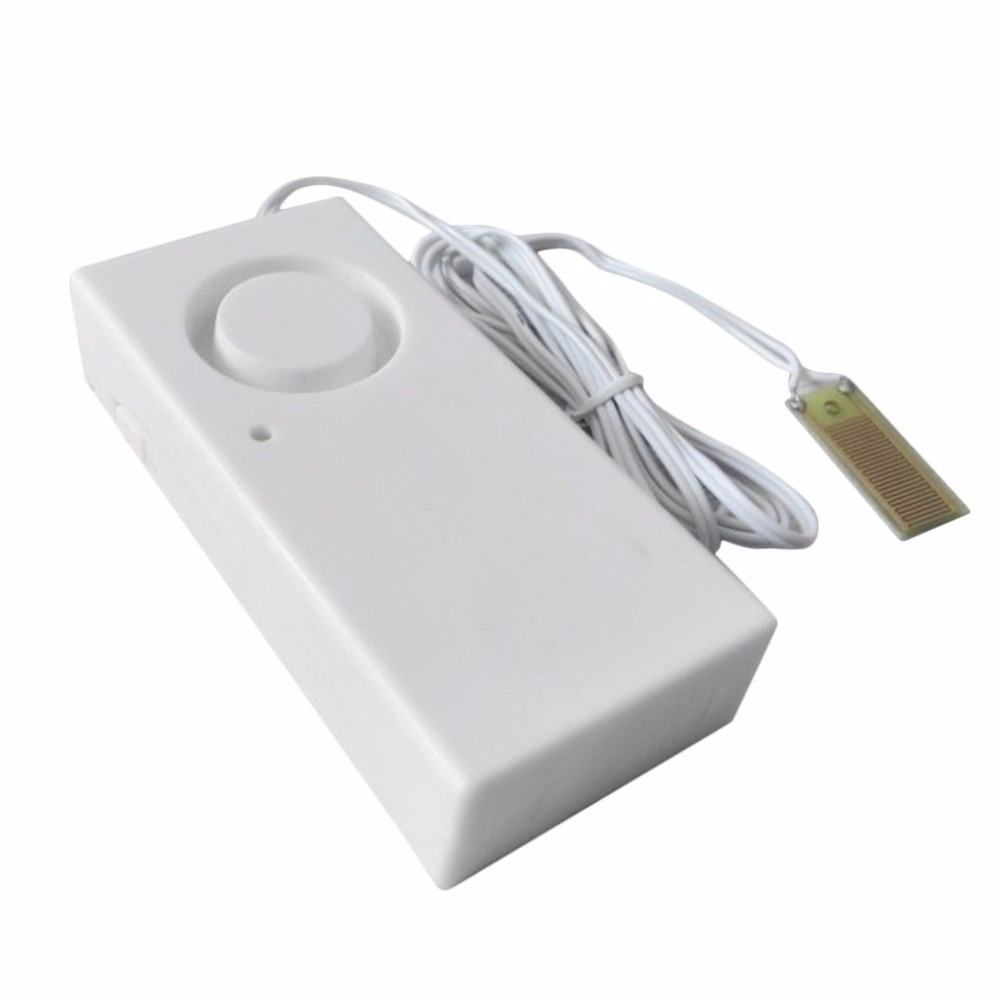 Water Overflow Leakage Alarm Sensor Detector 120dB Water Level Alarm Home Security Alarm System Work Alone z wave plus gas water auto valve smart home automation controller work with water leak sensor alarm gas leakage sensor