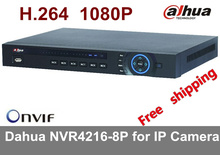 Free shipping 2016 NEW CCTV Dahua NVR 16CH 8 PoE Network Video Recorder NVR4216-8P 4ch alarm in and 2ch relay out Support Onvif