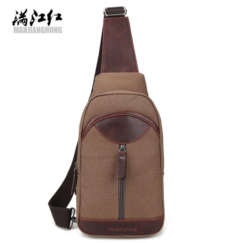 Unisex Shoulder Bag Canvas Brassiere Shoulder Bag Leisure Travel Military Postman Package Zipper Solid Black Large