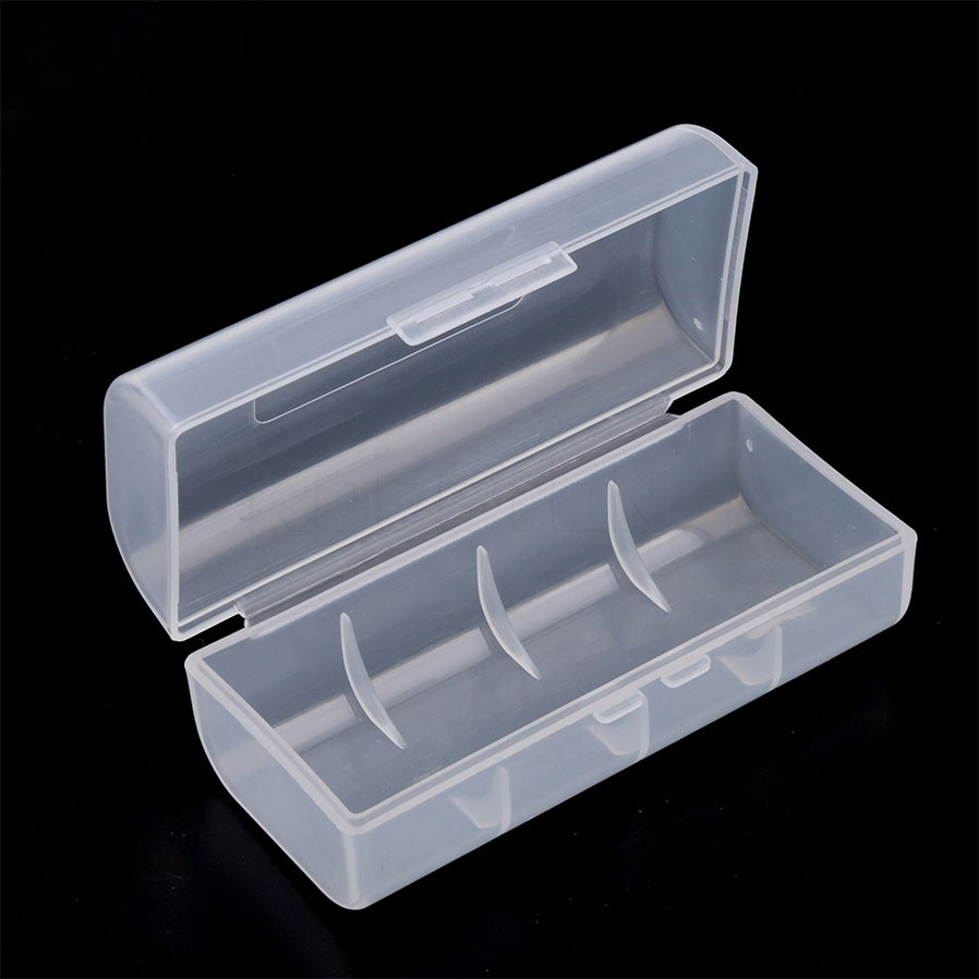 Portable Transparent Clear 26650 Battery Storage Box Lithium Rechargeable Battery Case Organizer Container